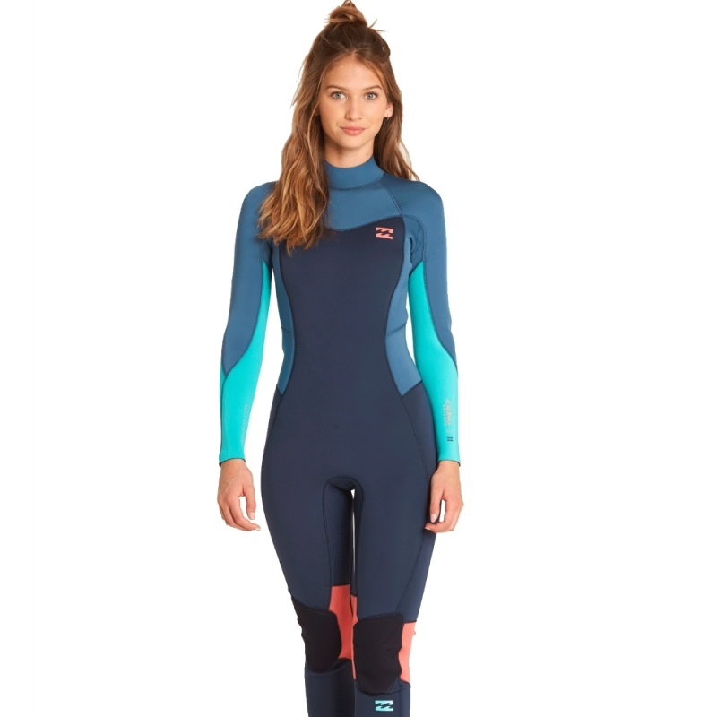 Billabong 4/3mm Furnace Synergy Wetsuit Back Zip Slate