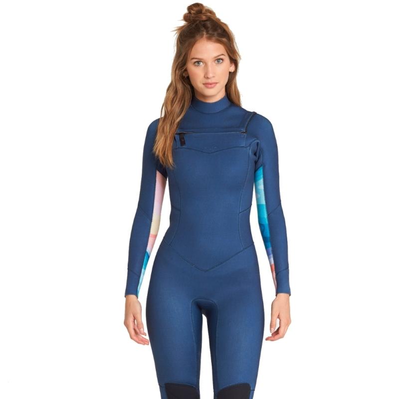 Billabong 4/3mm Salty Dayz Womens Wetsuit Blue Swell