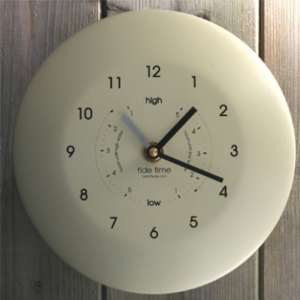 Ashortwalk Powder Coated Cream Time and Tide Clock