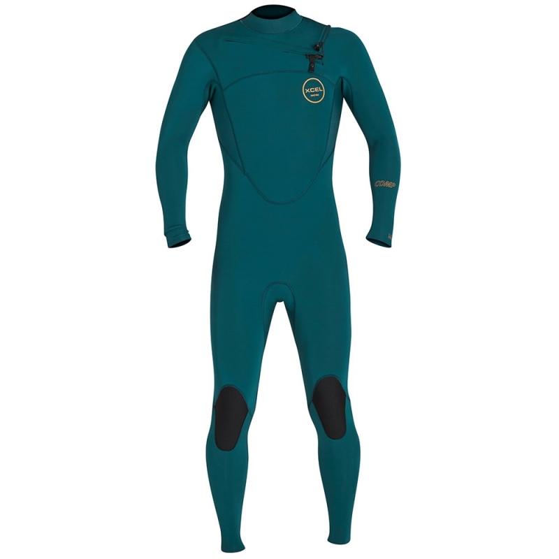 Xcel Wetsuits Comp 5/4mm Chest Zip Wetsuit Spruce