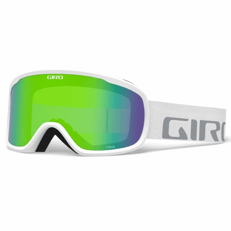 Giro Cruz Ski Goggles White Wordmark Loden Green