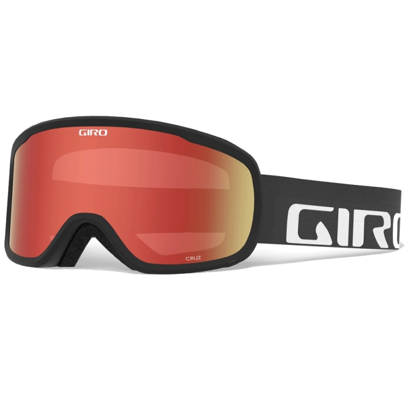 1341d1ea6564 Giro Cruz Ski Goggles Black Wordmark Amber Scarlet