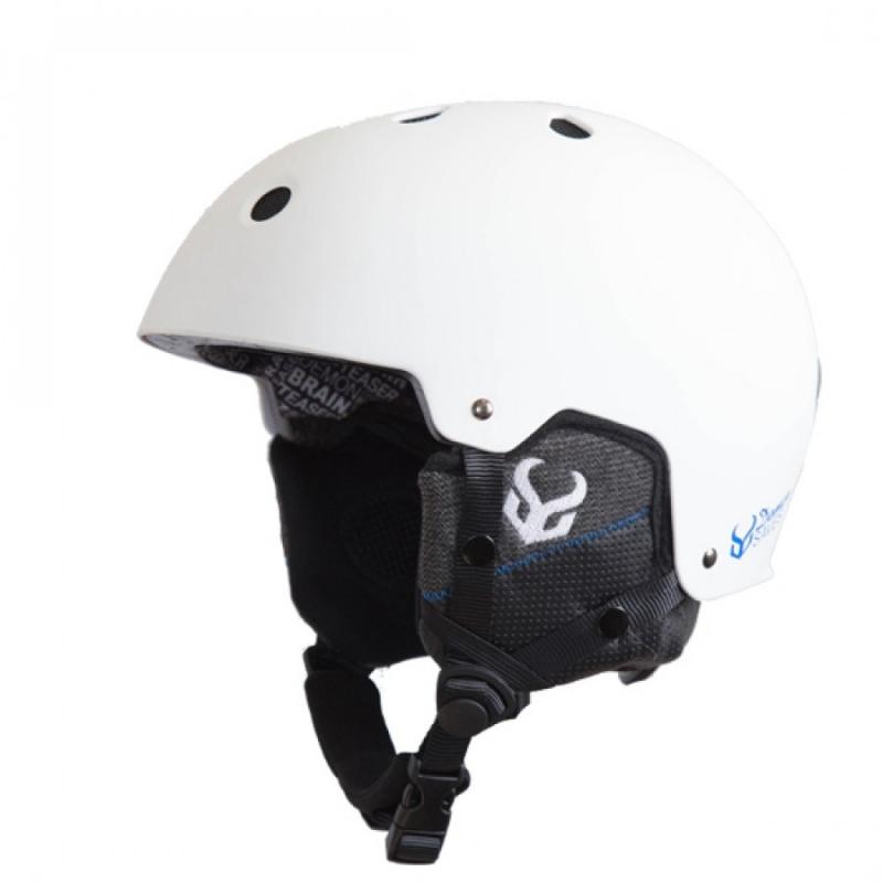 Demon Faktor Ski Helmet White With Brainteaser Audio