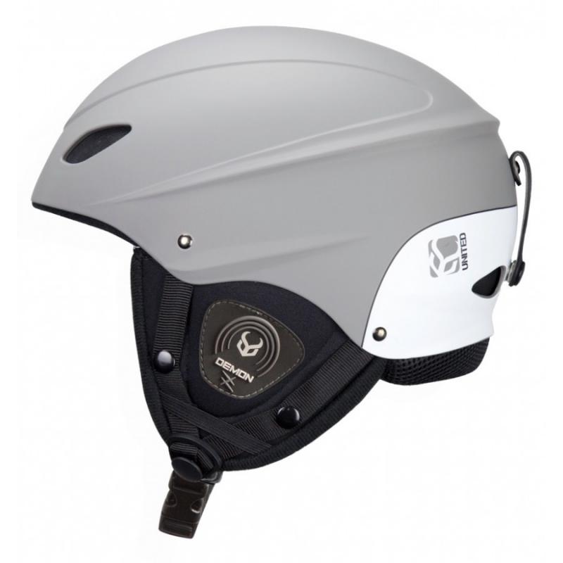 Demon Phantom Ski Helmet with Brainteaser Audio Grey