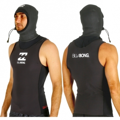 Billabong 'Furnace' Thermal Hooded Polypro Rash Vest